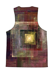Psychedelic all over print impressionism tank by GratefullyDyed Apparel back view.