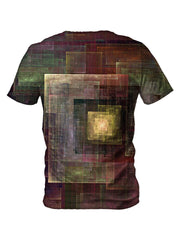 Back view of all over print psychedelic sacred geometry t shirt by Gratefully Dyed Apparel.