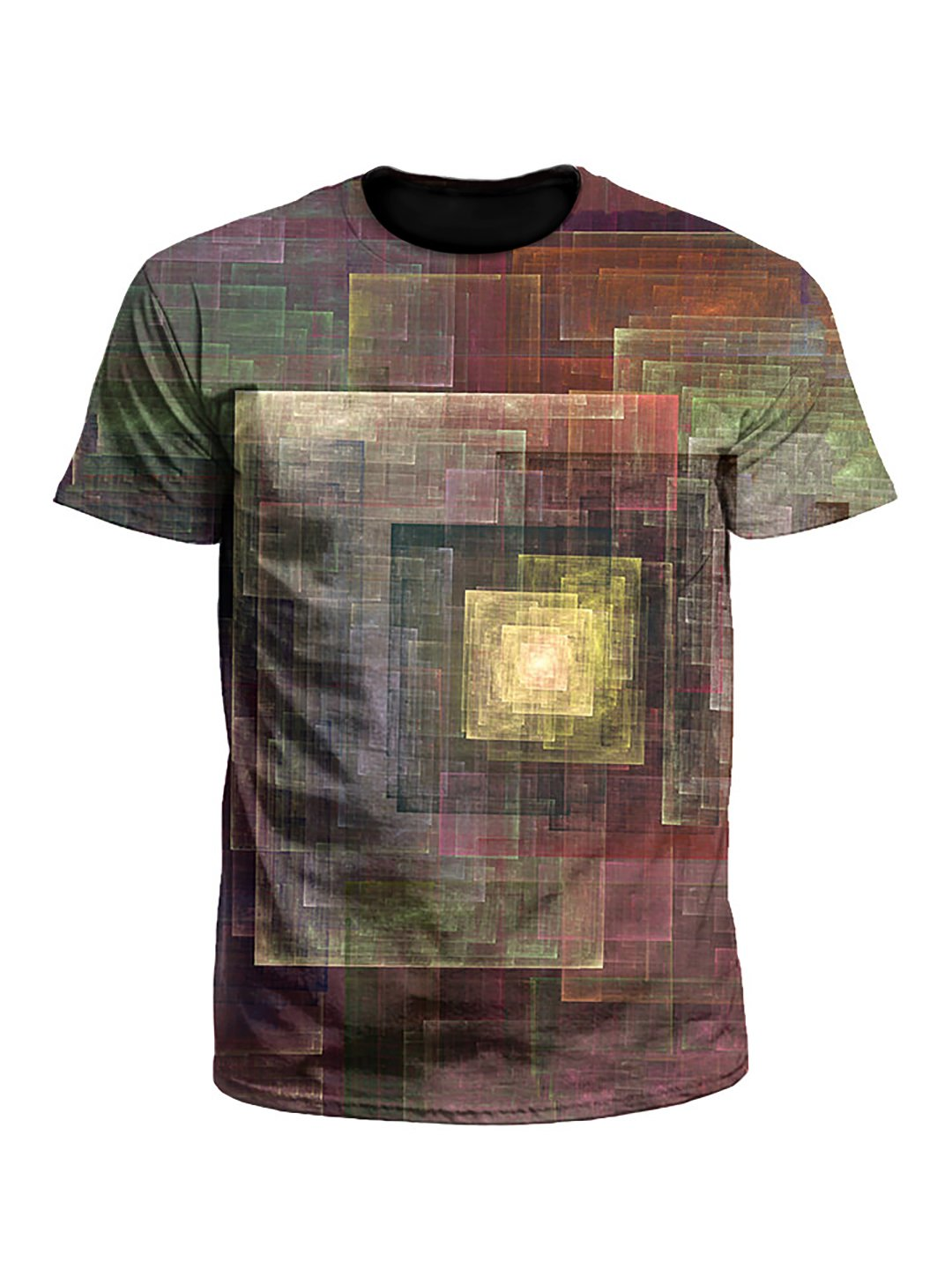 Colorful Impression Abstract Geometric Unisex T-Shirt