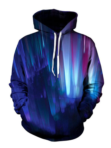 Multi Colored Psychedelic Pullover Hoodie Front View