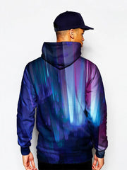 Model In Multi Colored Psychedelic Pullover Hoodie Back View