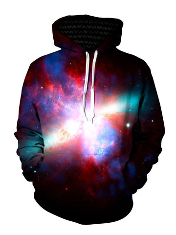 Psychedelic Galaxy Pullover Hoodie Front View
