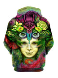 Blossoming Mind Pullover Art Hoodie - GratefullyDyed - 2