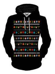 Christmas Sweater Cute Emoji Pullover Hoodie Womens Front View
