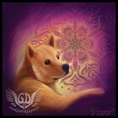 doge life mandala artwork sticker print - such wow gifts