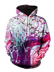 psychedelic marble painting all over pullover print
