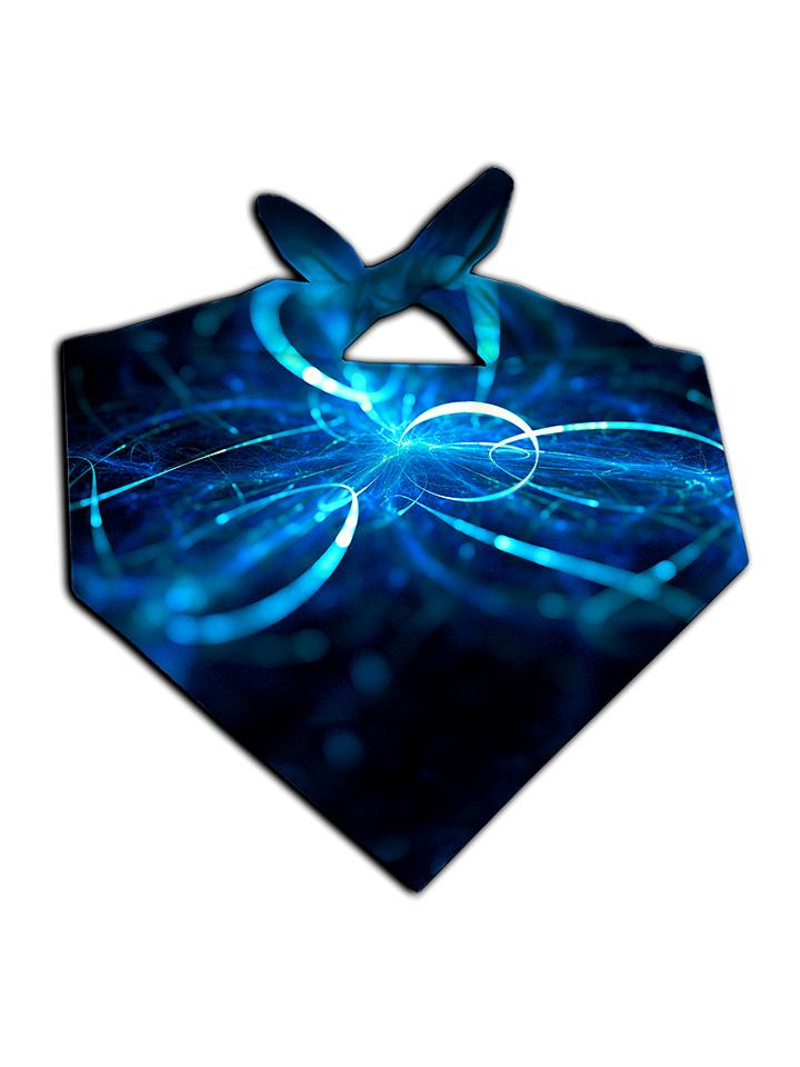 Electric Blue Light Show Printed Bandana