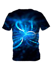 Back view of all over print psychedelic light show t shirt by Gratefully Dyed Apparel.