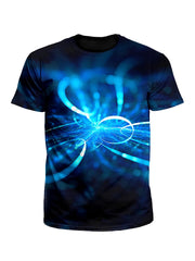 Electric Blue Light Show Unisex T-Shirt