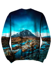Back view of psychedelic nature pullover sweat shirt.
