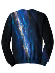 Back view of psychedelic light show pullover sweat shirt.