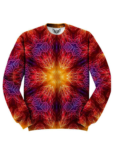 Trippy Red Mandala Sweater Front