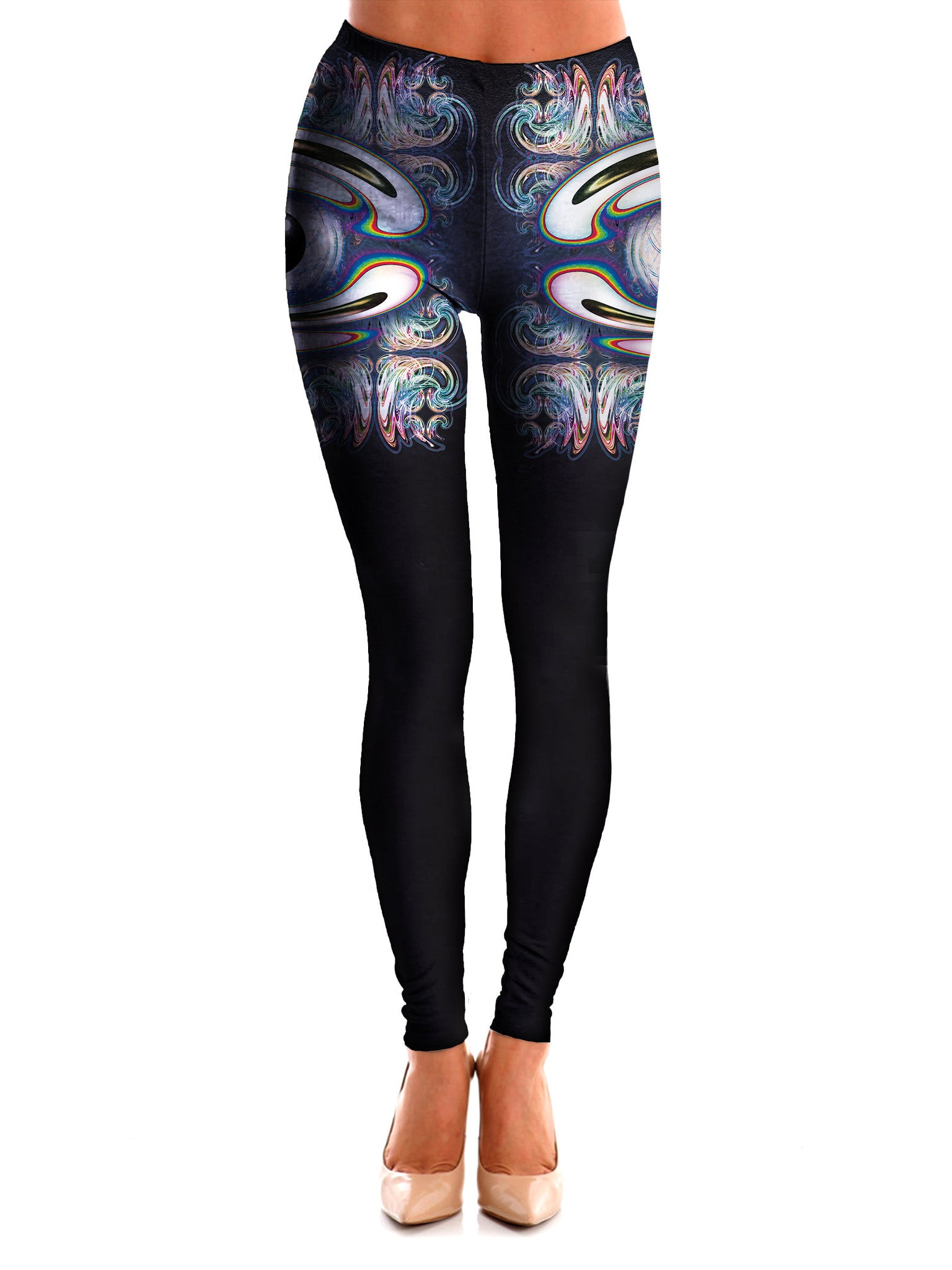 Filagree Freakout Art Leggings - GratefullyDyed - 1
