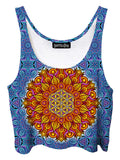 Flower of life festival crop top - i am electric artwork