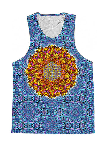 Flower Of Life Sacred Geometry Premium Tank Top