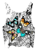 Flutterby Floral Butterfly Crop Top