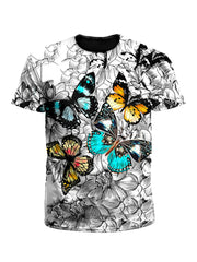 Flutterby Floral Butterfly Unisex T-Shirt
