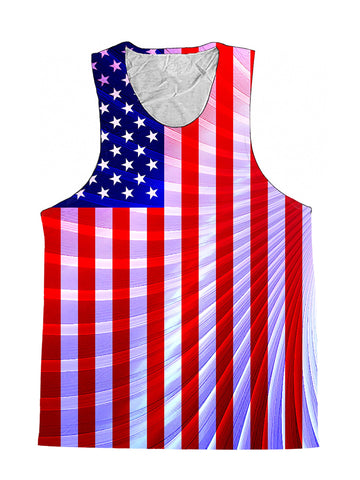 Fractal Flag 4th Of July Premium Tank Top