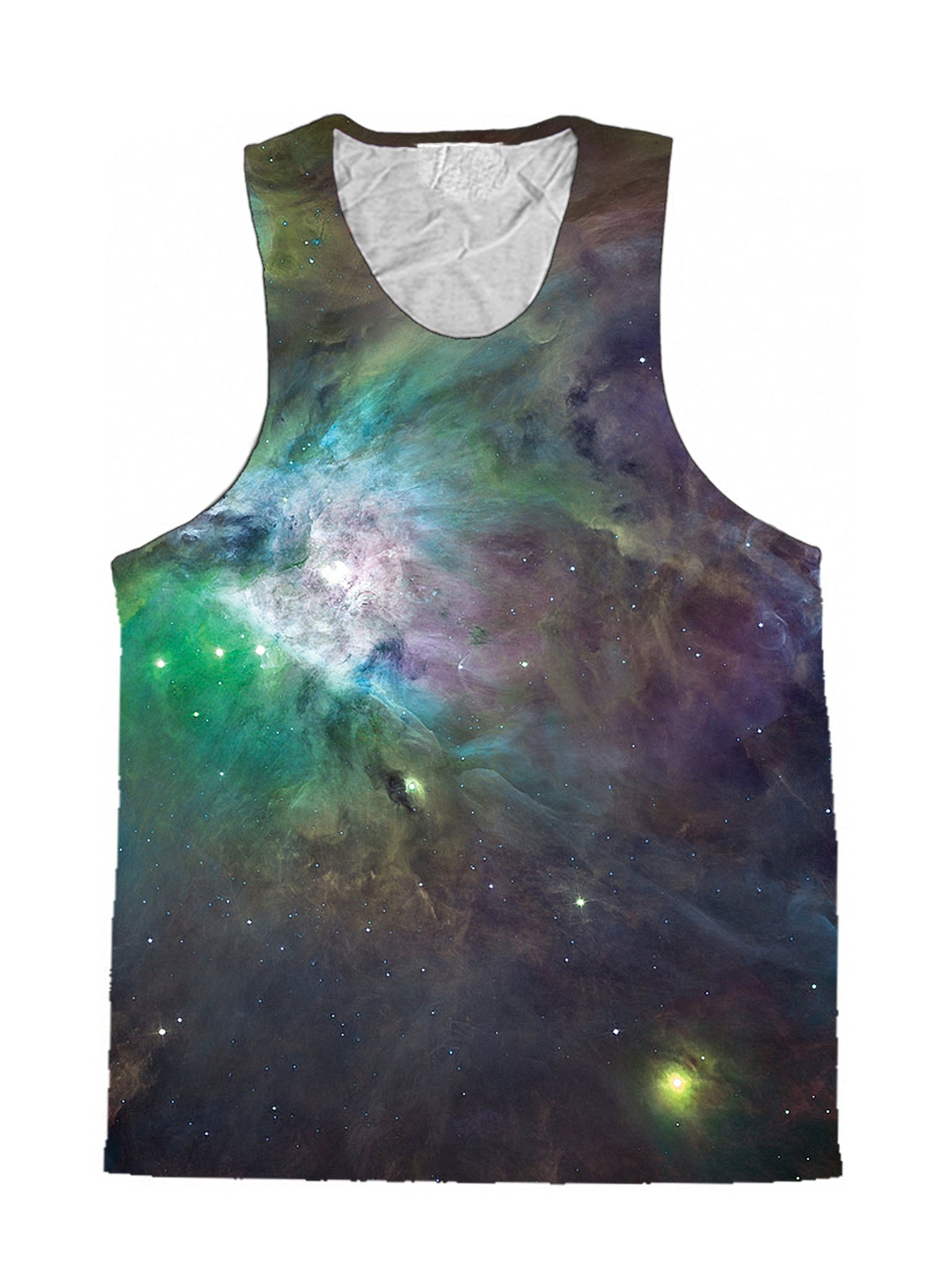 Galactic Green Galaxy Premium Tank Top