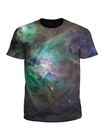 Galactic Green Galaxy Unisex Space Tee