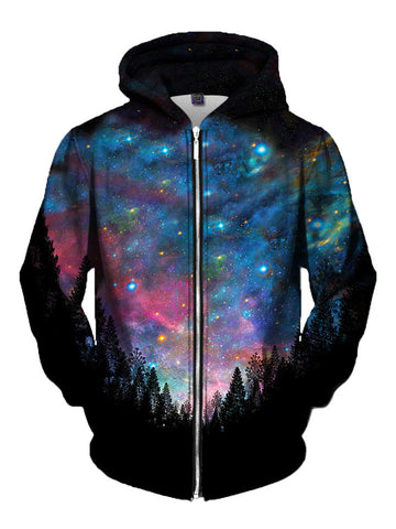 Galactic Valley Zip-Up Hoodie | Edm Clothing