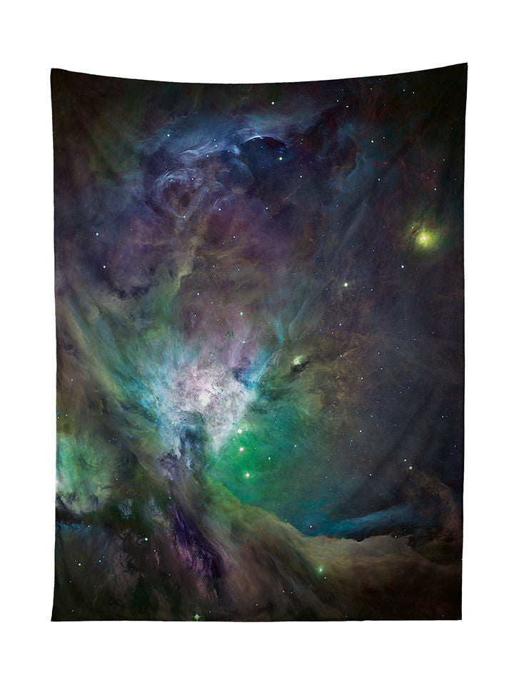 Galactic Green Galaxy Tapestry - GratefullyDyed