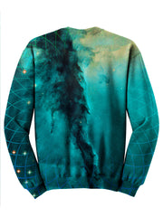 Trippy Space Geometry Sweater Design - EDM Artwork