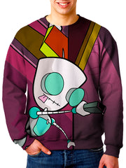 Gir Sweat Shirt - Invader Zim Sweater Print