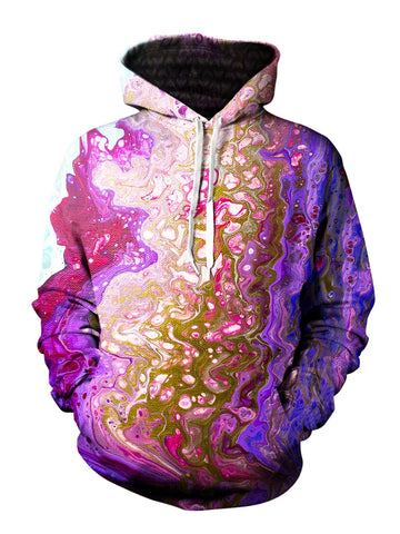 Marble Painting Pullover Sublimation Hoodie