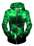 Trippy Green Zip Up For Women