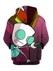 Back Of Invader Zim Pullover Hoodie