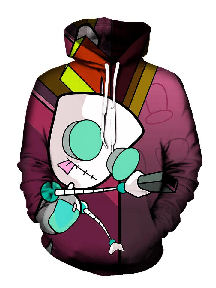 All Around Invader Zim Printed Pullover Hoodie
