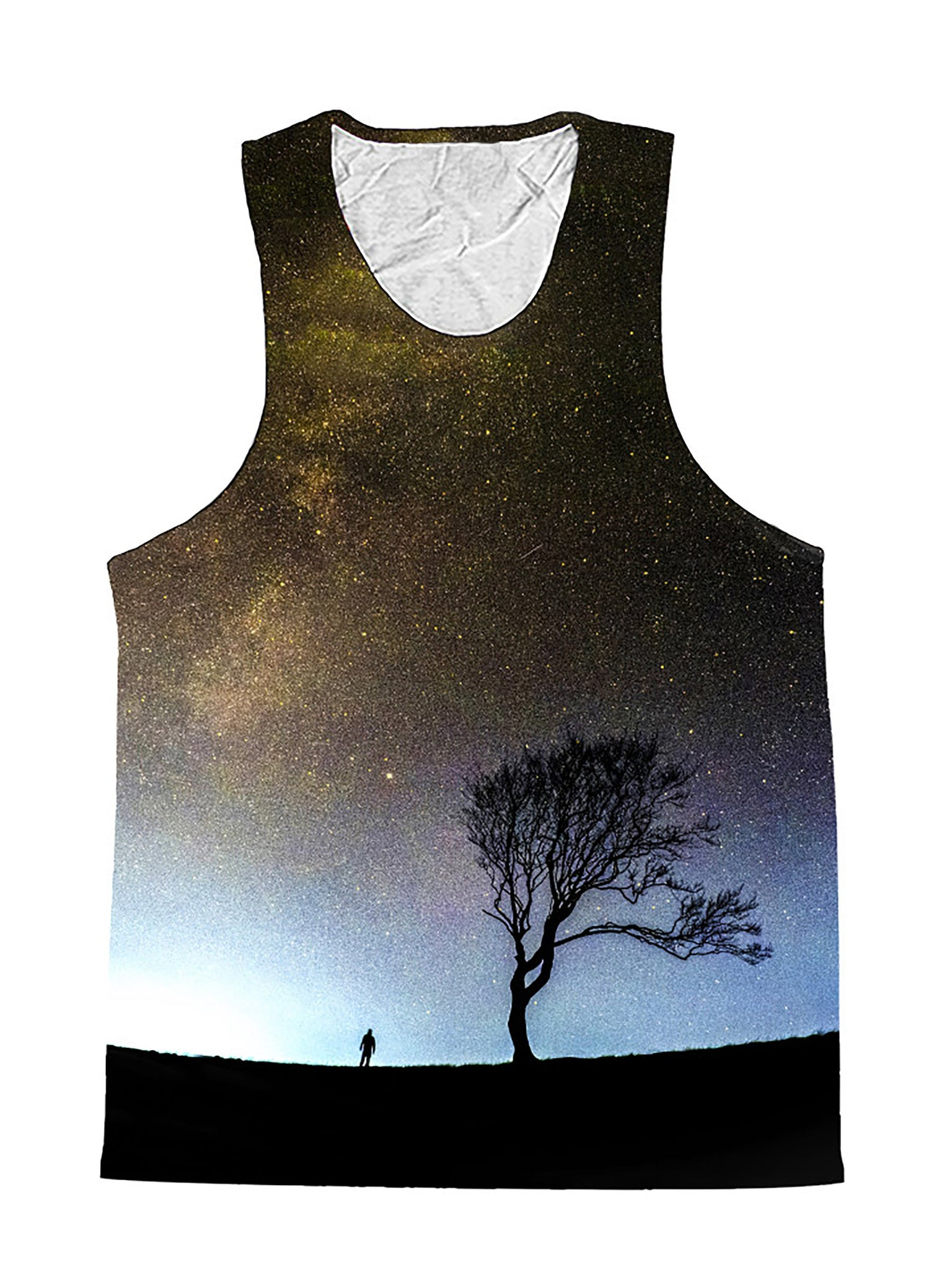 Landing Gray Galaxy Tree Space Premium Tank Top