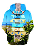 Back view of all over print environmentalist hoody by Gratefully Dyed Apparel.