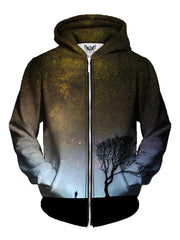Light Brown Space Zip Up Hoodie