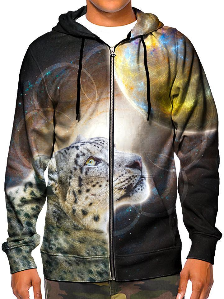 Model In Space Leopard Zip Up