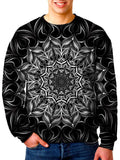 Model In Trippy Mandala Sweater Front View