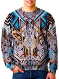 Model In Trippy Bohemian Sweater Front View
