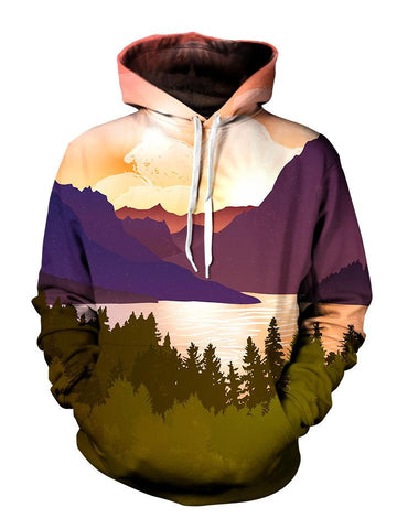 Hippie Fall Colors Scenery Pullover Hoodie Front View