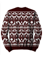 Naughty Christmas Sweater Back View