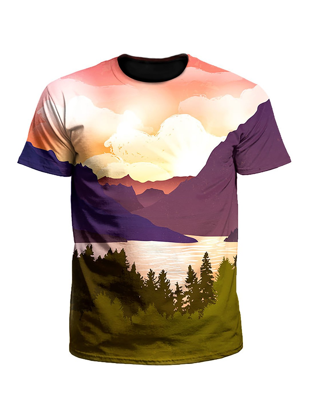 Picture Perfect Forest Mountain Valley Unisex T-Shirt