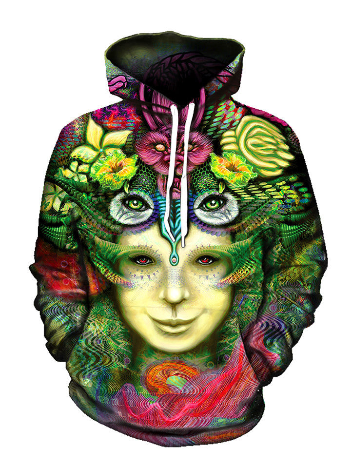 Blossoming Mind Pullover Art Hoodie - GratefullyDyed - 1
