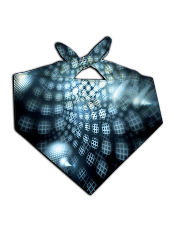 Black and blue honeycomb all over printed bandana