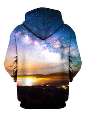 Space Sun On Horizon Pullover Hoodie Back View