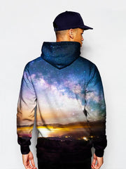 Man In Space On Horizon Pullover Hoodie Back View