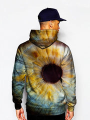 Up close iris all over print pullover hoodie