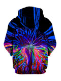 Psychedelic Multi Colored Pullover Hoodie Back View