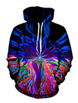 Psychedelic Multi Colored Pullover Hoodie Front View