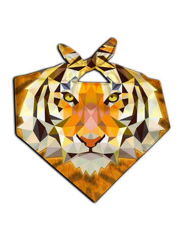 Tiger face all over print bandana