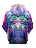 Trippy Multi-Colored Pullover Hoodie Front View
